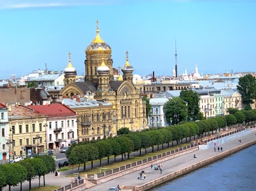 St Petersburg gold dome