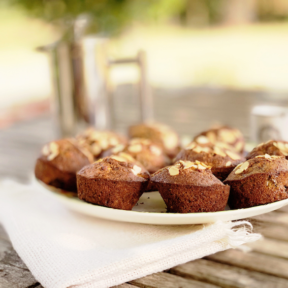 Fig and almond muffins